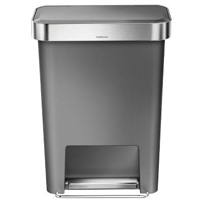 target kitchen trash cans simplehuman step open trash can gray target
