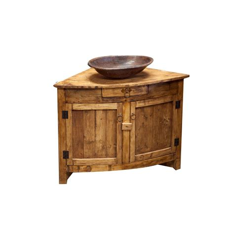 buy rustic corner vanity for small bathroom