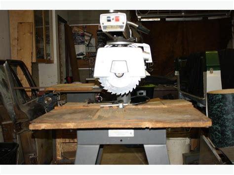 capacitor dewalt radial arm saw used dewalt deluxe powershop 770 10 radial arm saw 3 cut c w table 75 west shore langford