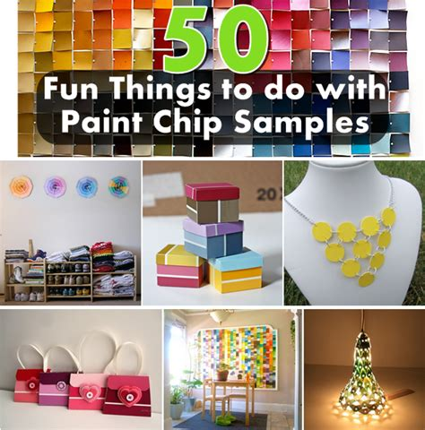 craft things to do with 50 things to do with paint chip sles diy craft