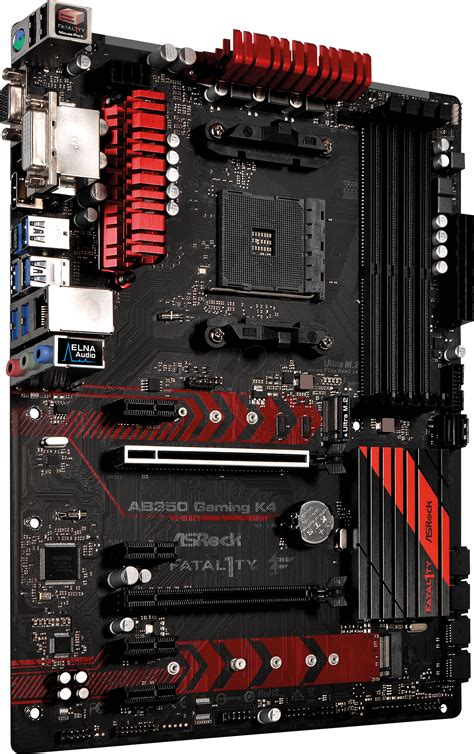 Asrock Fatal1ty Ab350 Gaming K4 Amd B350 Am4 Ddr4 Ryzen asr ab350 gk4 asrock fatal1ty ab350 gaming k4 am4 at