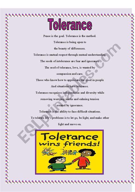 Teaching Tolerance Worksheets