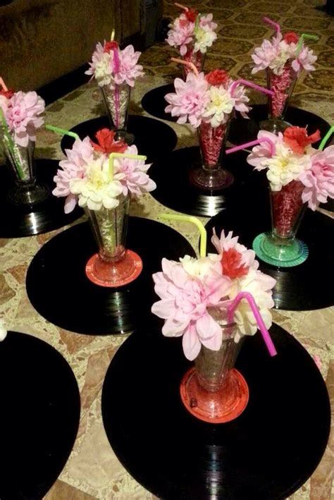 easy diy 50 s themed centerpieces my diy cheap