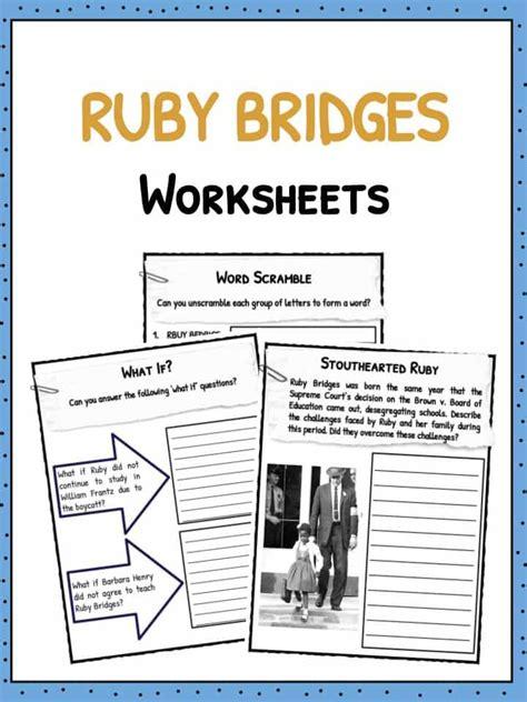 Ruby Bridges Worksheets by Ruby Bridges Worksheets Worksheets Releaseboard Free