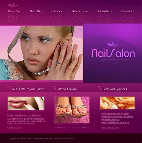 Nail Salon Website Template 15527 Nail Salon Website Template Free