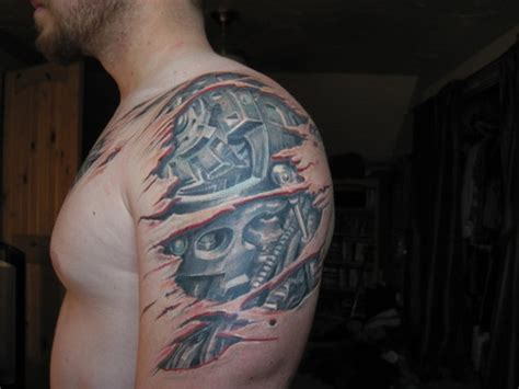41 Mechanical Tattoos On Shoulder Awesome Shoulder Tattoos
