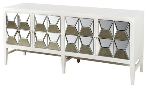 white mirrored buffet spike mirrored sideboard white buffets and sideboards