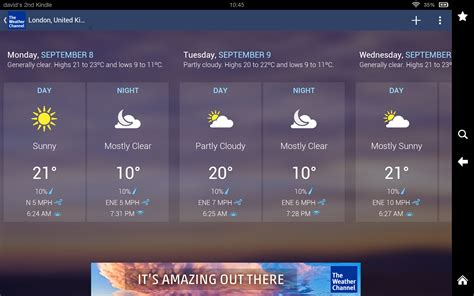 the weather channel app for android tablet the weather channel forecast radar alerts appstore for android