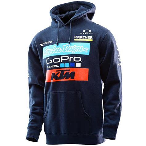 design motocross hoodie troy lee designs ktm team hoodie bto sports