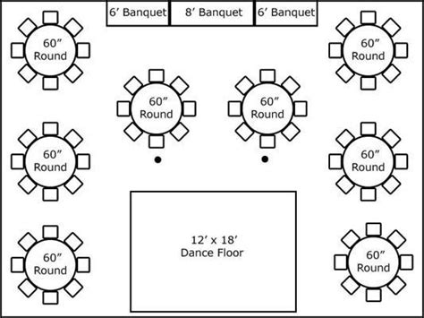 banquet buffet layout 30 x 40 w round tables buffet wedding plans
