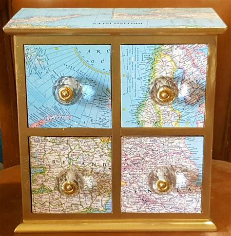 Decoupage Furniture With Maps - 17 best images about mod podge on