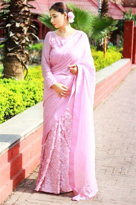 Pink Saree indian wedding sarees shopping store gives a pink
