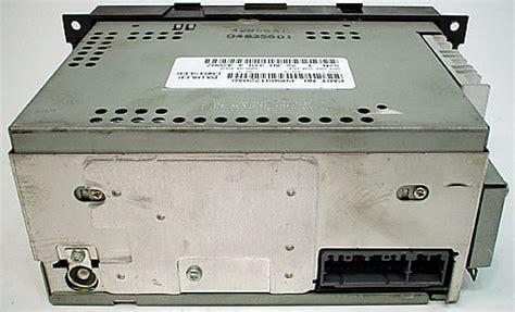 jeep commander factory amfm  disc cd radio
