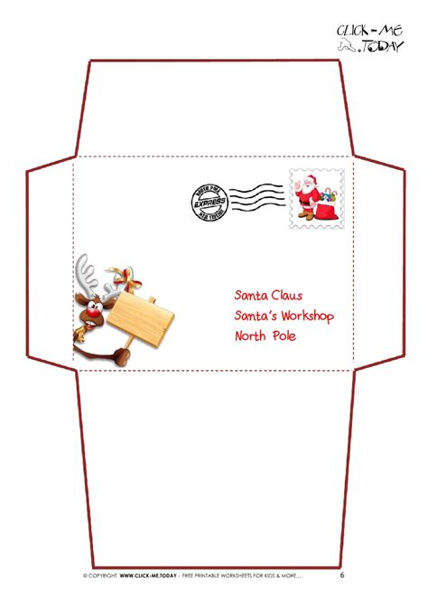 santa envelope template search results for santa claus envelope template