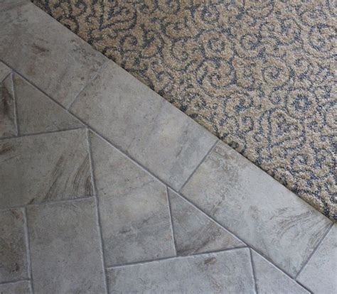 floor l ideas pinterest carpet to tile transition ideas basement pinterest