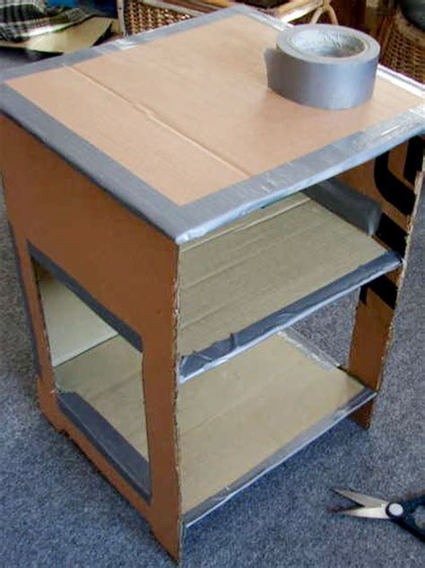 How To Make A Paper Table - jessifli01 make your own papier mache nightstand