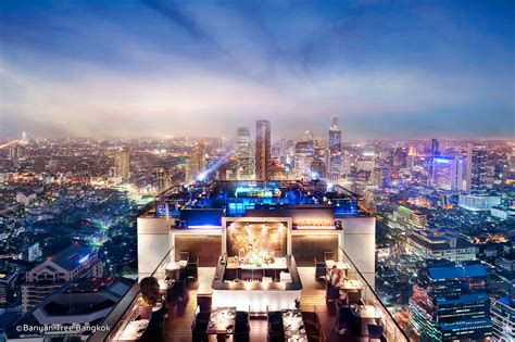 roof top bar in bangkok vertigo rooftop bar at banyan tree bangkok