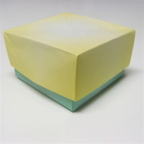 Folded Paper Box With Lid - box with lid how to origami box at howto