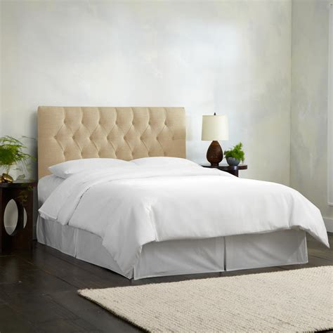 tufted headboard with diamonds linen sandstone twin diamond tufted headboard 540tlnnsnd