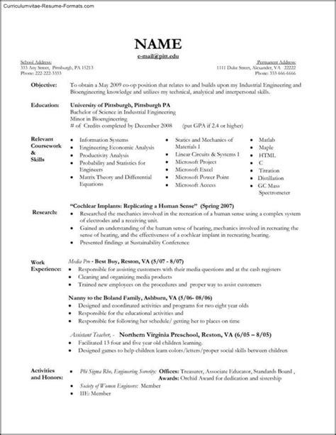 Of A Nanny For Resume nanny resume template free sles exles format