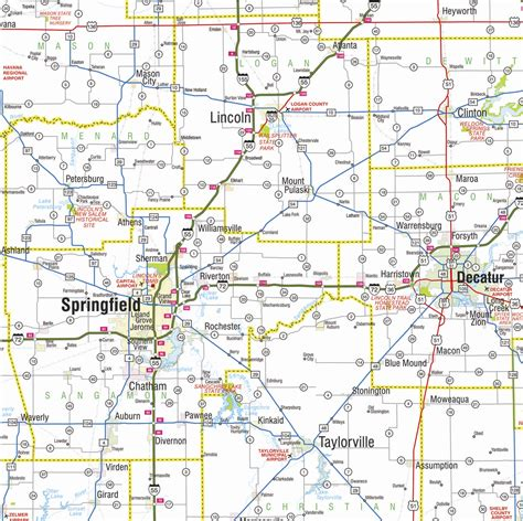 illinois state map illinois state highway road map breeds picture