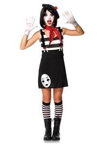 party city halloween costumes for tweens miss mime tween costume