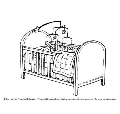 Crib Drawings by Www Preschoolcoloringbook New Baby Coloring Page