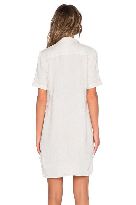 Dress Boxy Line Shirt 1 linen shirt dress in white lyst