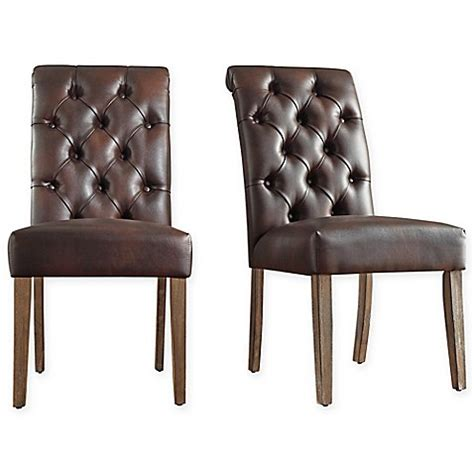Tufted Dining Chair Set Verona Home Radcliffe Button Tufted Dining Chairs Set Of 2 Bed Bath Beyond