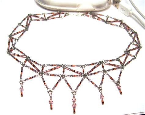 diode jewelry lilac diode necklace w austrian stewart jewelry designs