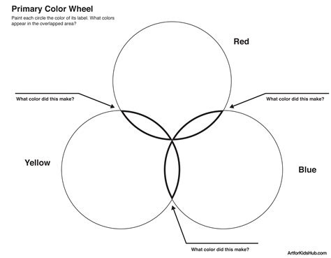 basic color wheel template free coloring pages of primary color wheel