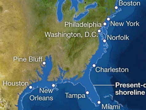 map world after glaciers melt national geographic maps our coastline after we melt all