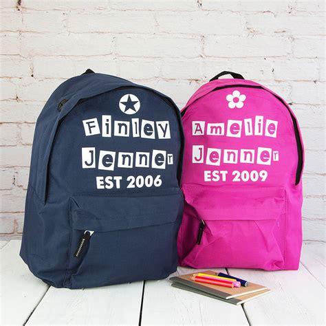 personalised est childrens rucksack by 3 blonde bears