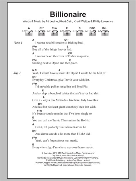 tutorial guitar billionaire billionaire by travis mccoy guitar chords lyrics