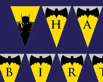free printable happy birthday batman banner popular items for comic sound effects on etsy