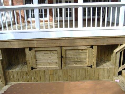 deck storage ideas garden yard