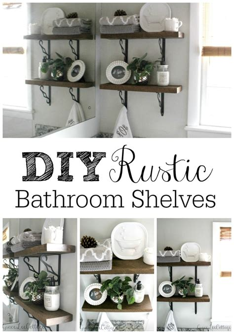 hometalk diy rustic bathroom shelves