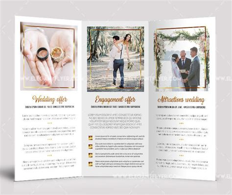 40 Free Professional Tri Fold Brochures For Business Graphicsfuel Free Tri Fold Wedding Brochure Templates