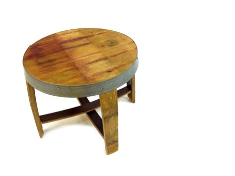 Barrel End Table by The Quot Snap Quot Wine And Whiskey Barrel End Tables Hungarian