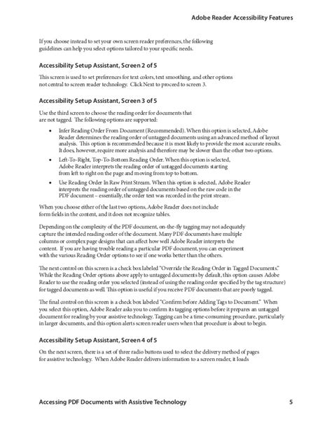 Reading Untagged Document With Assistive Technology