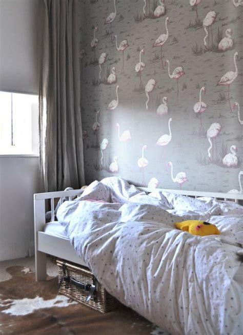 flamingo wallpaper room habitaciones de ni 241 as que enamoran 161 las 20 ideas m 225 s bonitas