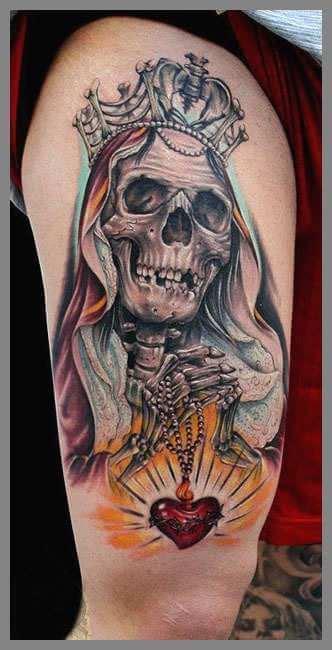 santa muerte colors tatuajes de la santa muerte las mejores ideas para