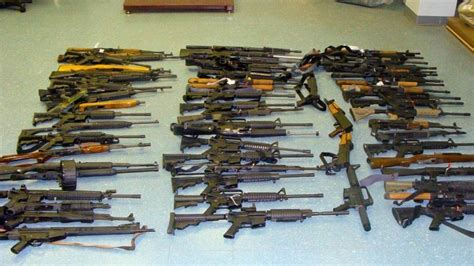 arsenal of weapons deputies seize arsenal weapons ammo believed headed for