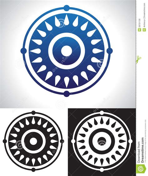 mandala symbolism stock vector image of symmetry design