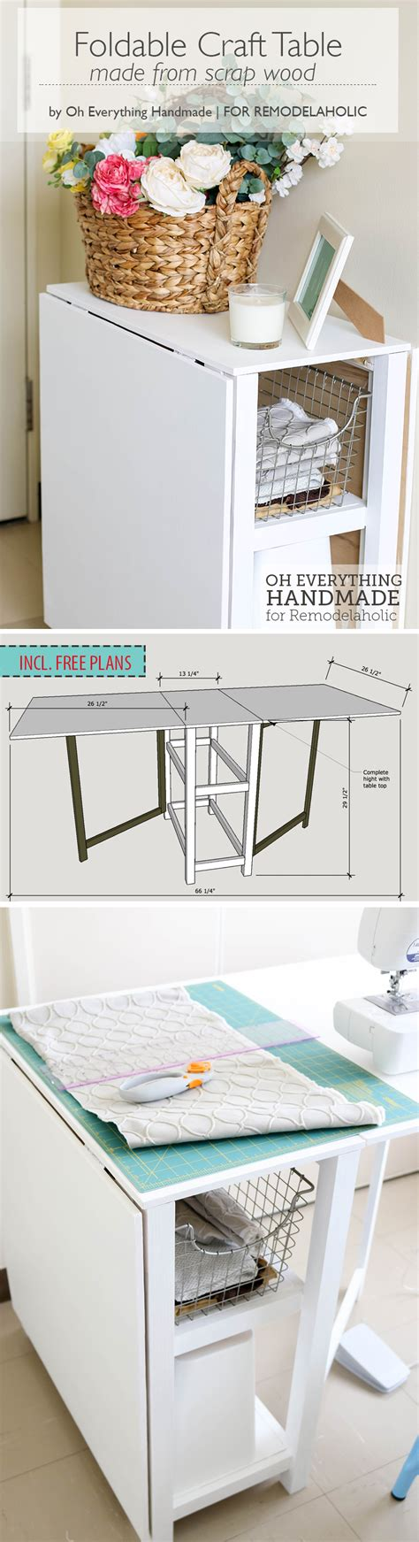 diy folding sewing table diy foldable craft table