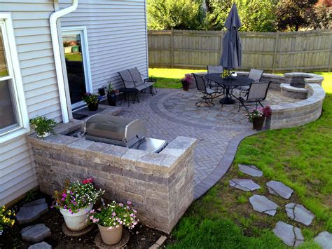 Patio Pavers Curved Edge Curved Paver Patio And Outdoor Kitchen Archadeck Outdoor