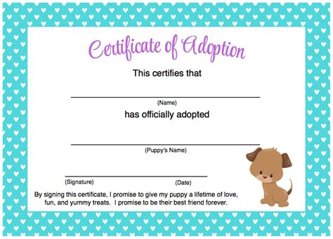 certificate of adoption template adoption certificate template images certificate design