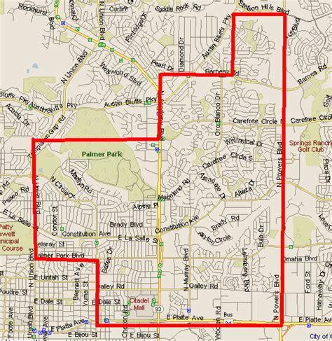maps colorado springs east colorado springs