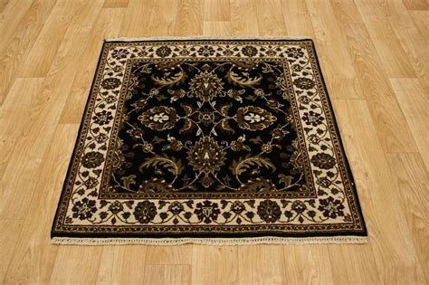 4x4 Area Rugs Allover Design Black Square 4x4 Agra Jaipour Area Rug Carpet Wool Ebay