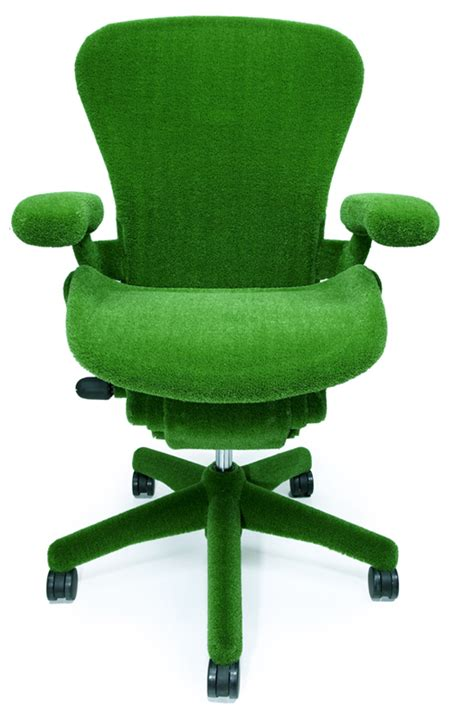 Green Chair by Green Astroturf Covered Aeron Chair By Herman Miller And